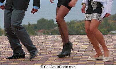 invités, marcher, mariage