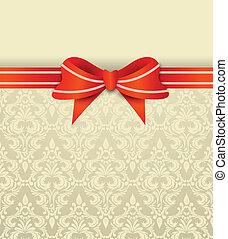 invitation, carte, arc