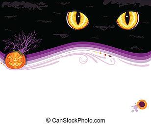 invitation, halloween, carte, fête, grungy