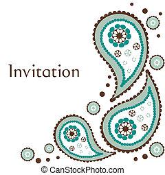 invitation, mariage, carte