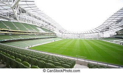 irlande, panoramique, dublin, stade, aviva, vide