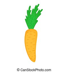 isolé, carotte, vecteur, blanc, arrière-plan.