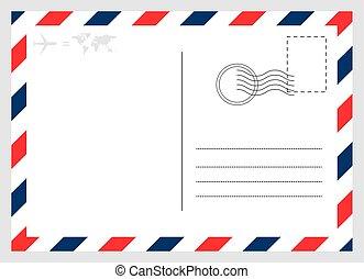 isolé, graphique, carte, moderne, vide, arrière-plan., conception, carte postale, voyage