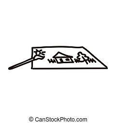 isolé, handrawing, image, image, blanc