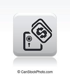 isolé, illustration, unique, vecteur, banque, icône