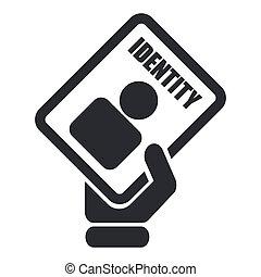 isolé, illustration, unique, vecteur, carte identification, icône