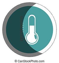 isolé, température, termometer, icône