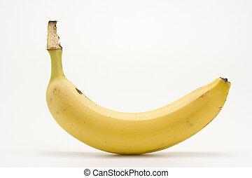 isolé, unique, banane, white.