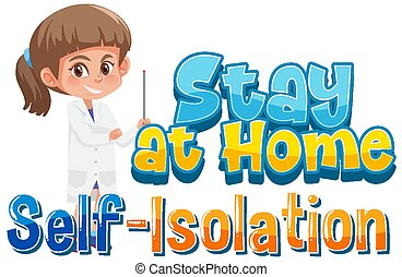 isolement, maison, soi, séjour