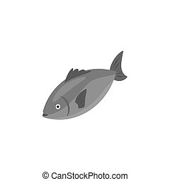 isométrique, illustration, fish