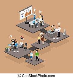isometrics, business, infographics
