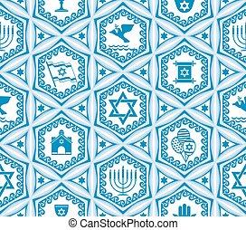 israël, conception, seamless