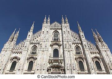 italie, cathédrale, milan