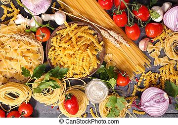 italien, fond, ingrédient, nourriture