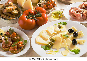 italien nourriture, apéritif