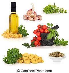 italien nourriture, ingrédients