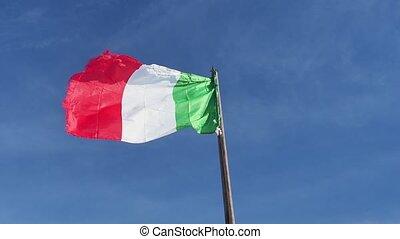 italien, vent, drapeau