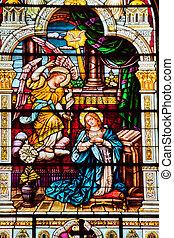 jésus, ange, elle, dire, peter, bébé, sur, complété, san, marie, église, catholique, 1924, saint, apparaître, francisco, californie, paul