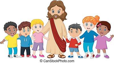 jésus, gosses, christ