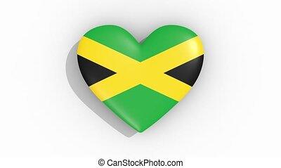 jamaïque, coeur, couleurs, drapeau, impulsions, boucle