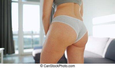 jambe, gel, self-massage, anti-cellulite, elle, femme, smears