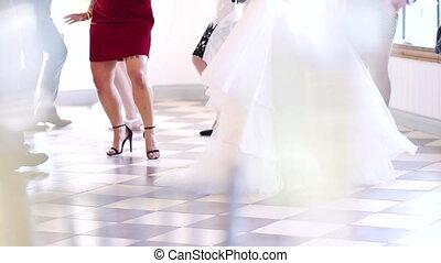 jambes, danse, mariage