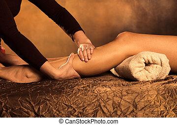 jambes, masage