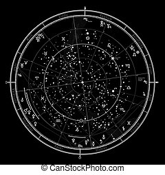 janvier, 2017., 1, astrologique, horoscope