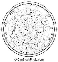 janvier, 2019., 1, astrologique, horoscope