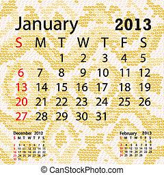 janvier, serpent albinos, peau, calendrier, 2013