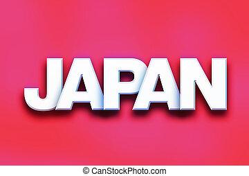 japon, concept, art, coloré, mot