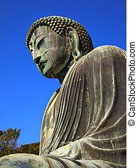 japon, géant, bouddha, kamakura