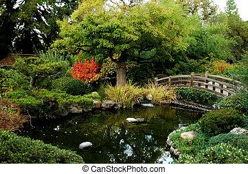 japonaise, bri, jardin
