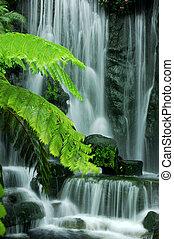 jardin, chutes d'eau