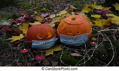 jardin, décorer, halloween