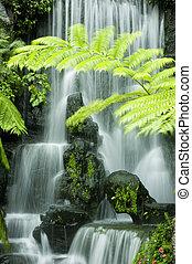 jardin japonais, chutes d'eau