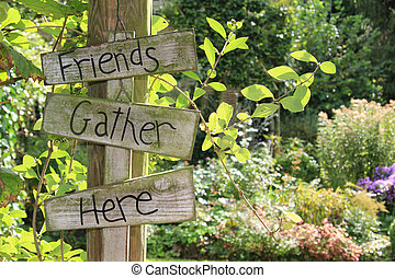 jardin, signe.