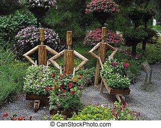 jardin, statue
