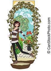 jardin, top secret, girl