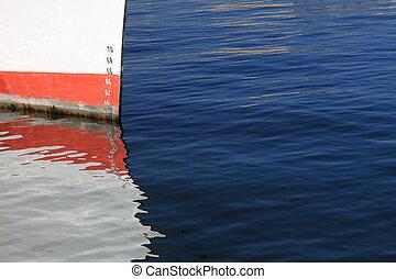 jauge, bateaux, profondeur