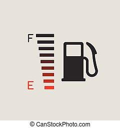 jauge, combustible, icône