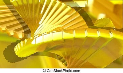 jaune, escalier