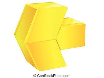 jaune, flèche