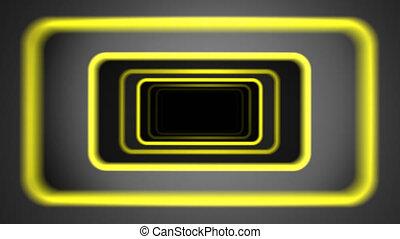 """jaune, """"flight, camera."""", inclinable, tunnel, secousse, futuriste, résumé, frontières"""