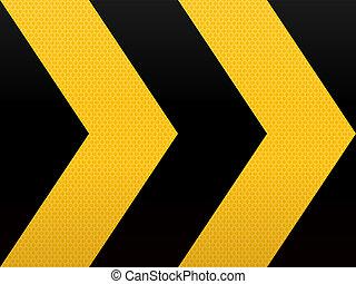jaune, noir, seamless, flèche