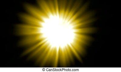 jaune, rayon, lumière, lumière soleil