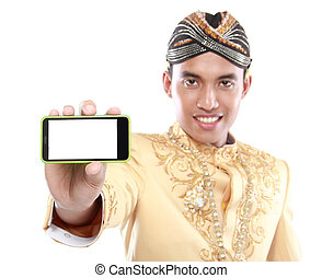 java, mobile, traditionnel, téléphone, complet, utilisation, homme