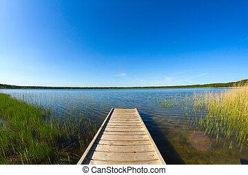 jetée, lac