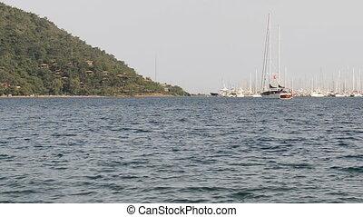 jetée, méditerranéen, yachts