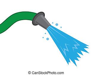jet eau, tuyau
